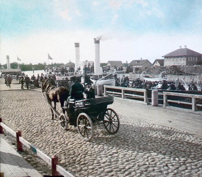 F. Krátký Petrohrad, 1896. Drožka u přístavu