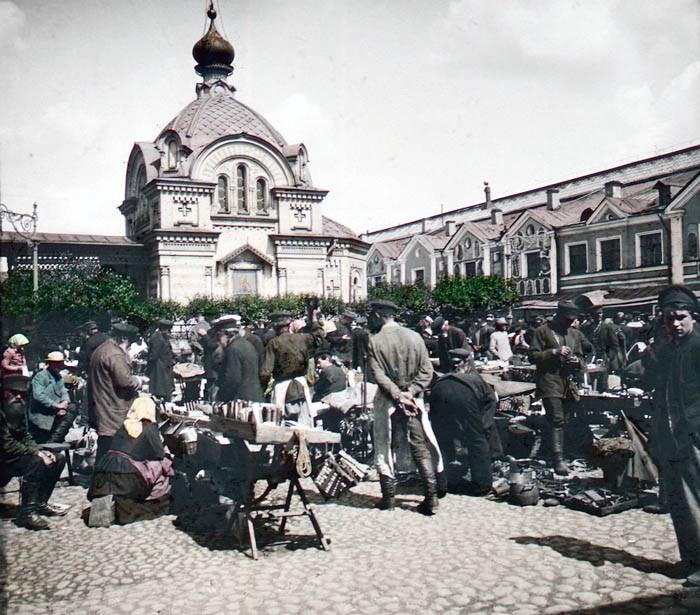 F. Krátký Petrohrad, 1896. Na trhu (На рынке)