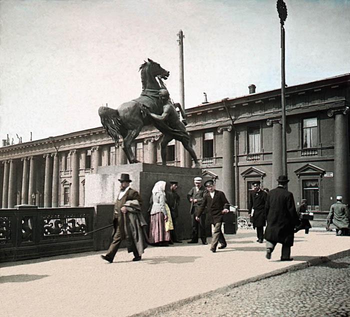 F. Krátký Petrohrad, 1896. Petrohrad - Aničkin most