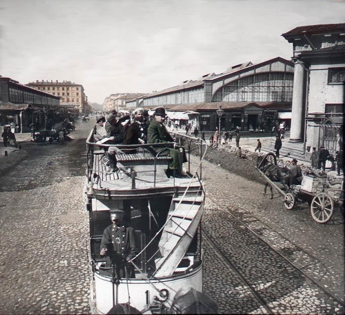 F. Krátký Petrohrad, 1896. Petrohrad - Senné náměstí