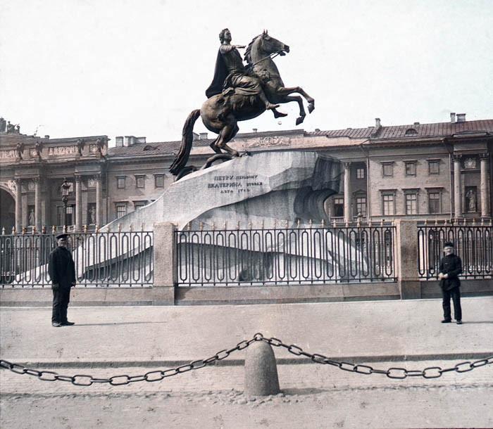F. Krátký Petrohrad, 1896. Pomník Petra Velikého