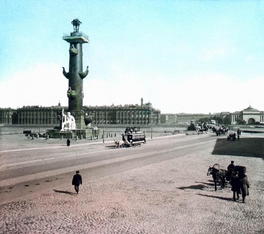 F. Krátký Petrohrad, 1896. Světlárna a Zimní palác