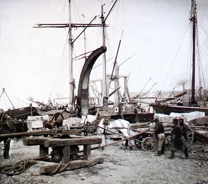 F. Krátký Petrohrad, 1896. V přístavu petrohradském