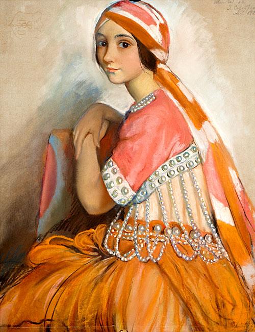 Серебрякова Портрет балерины Л.А. Ивановой. 1922.