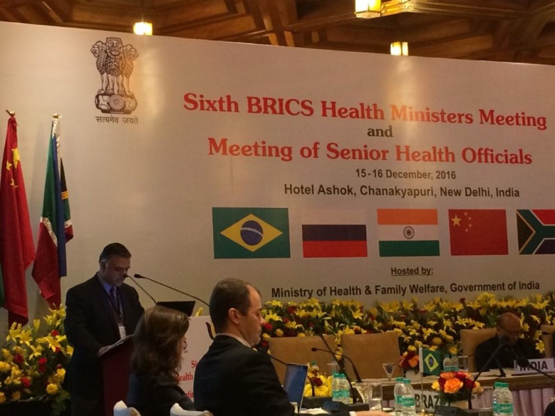 6th BRICS Health Ministers Meeting. Источник - https://twitter.com/RIS_NewDelhi