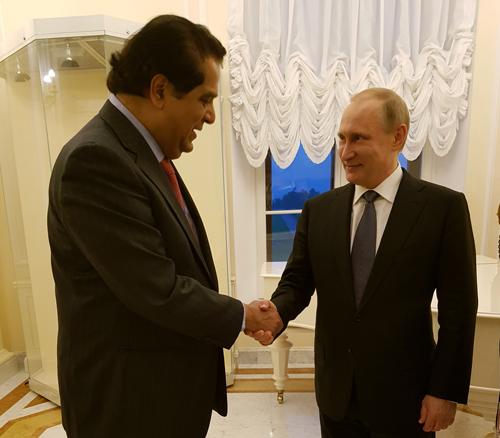 Кундапур Ваман Каматх и Владимир Путин