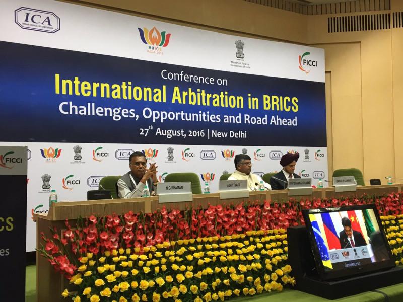 Открытие конференции «Международный арбитраж в БРИКС: вызовы, возможности, будущее» https://twitter.com/rsprasad/status/769404889638244352