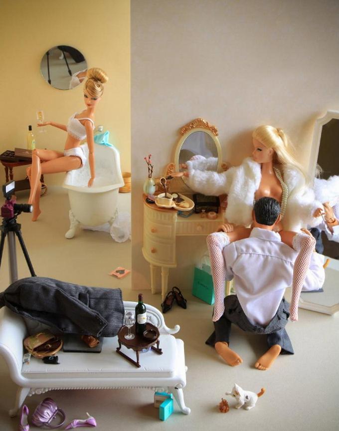 Секс с барби куклы