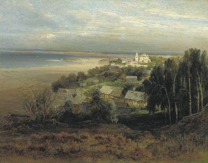 Печёрский монастырь под Нижним Новгородом. 1871. Саврасов А.К.