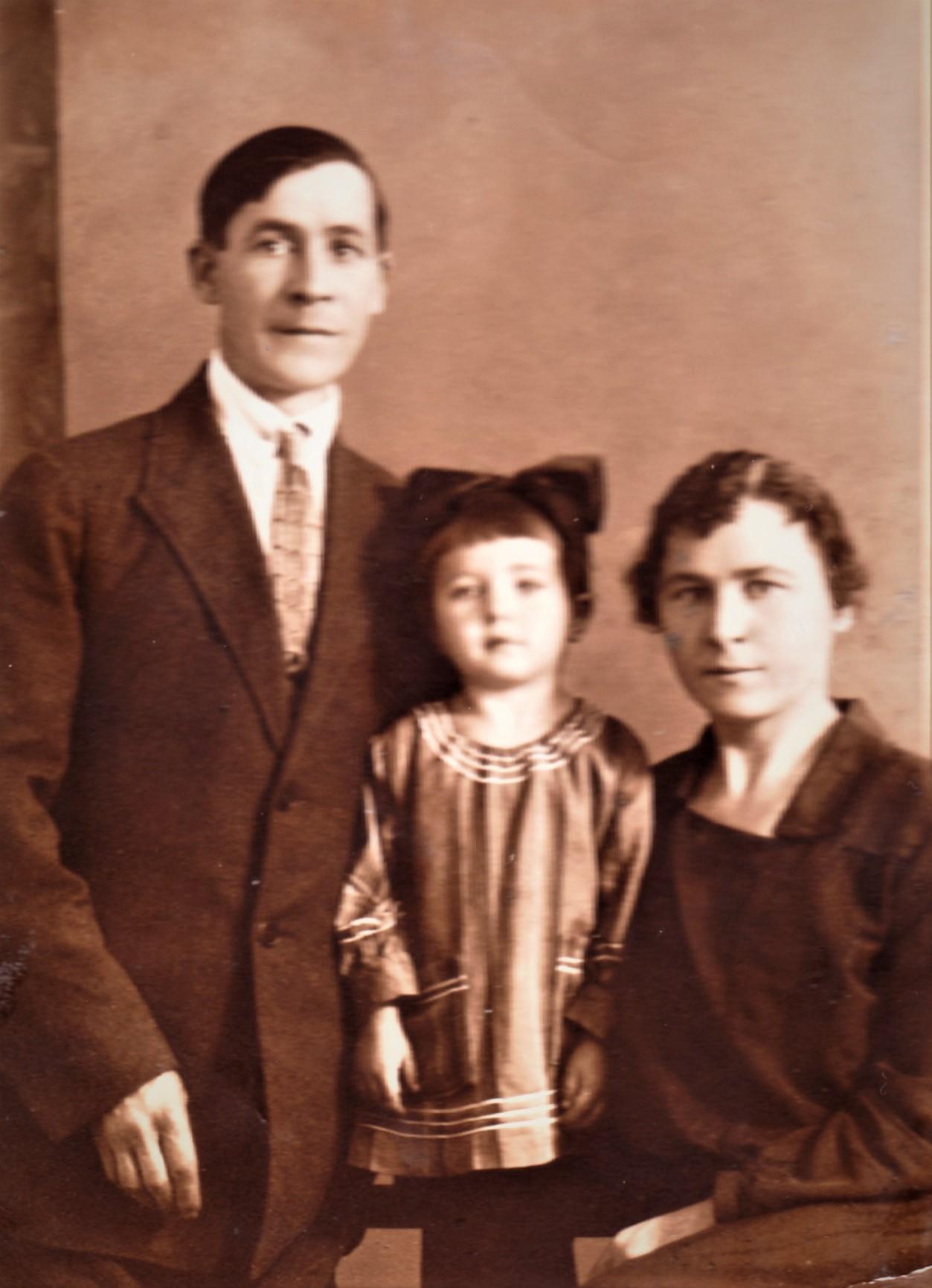 Мама с родителями