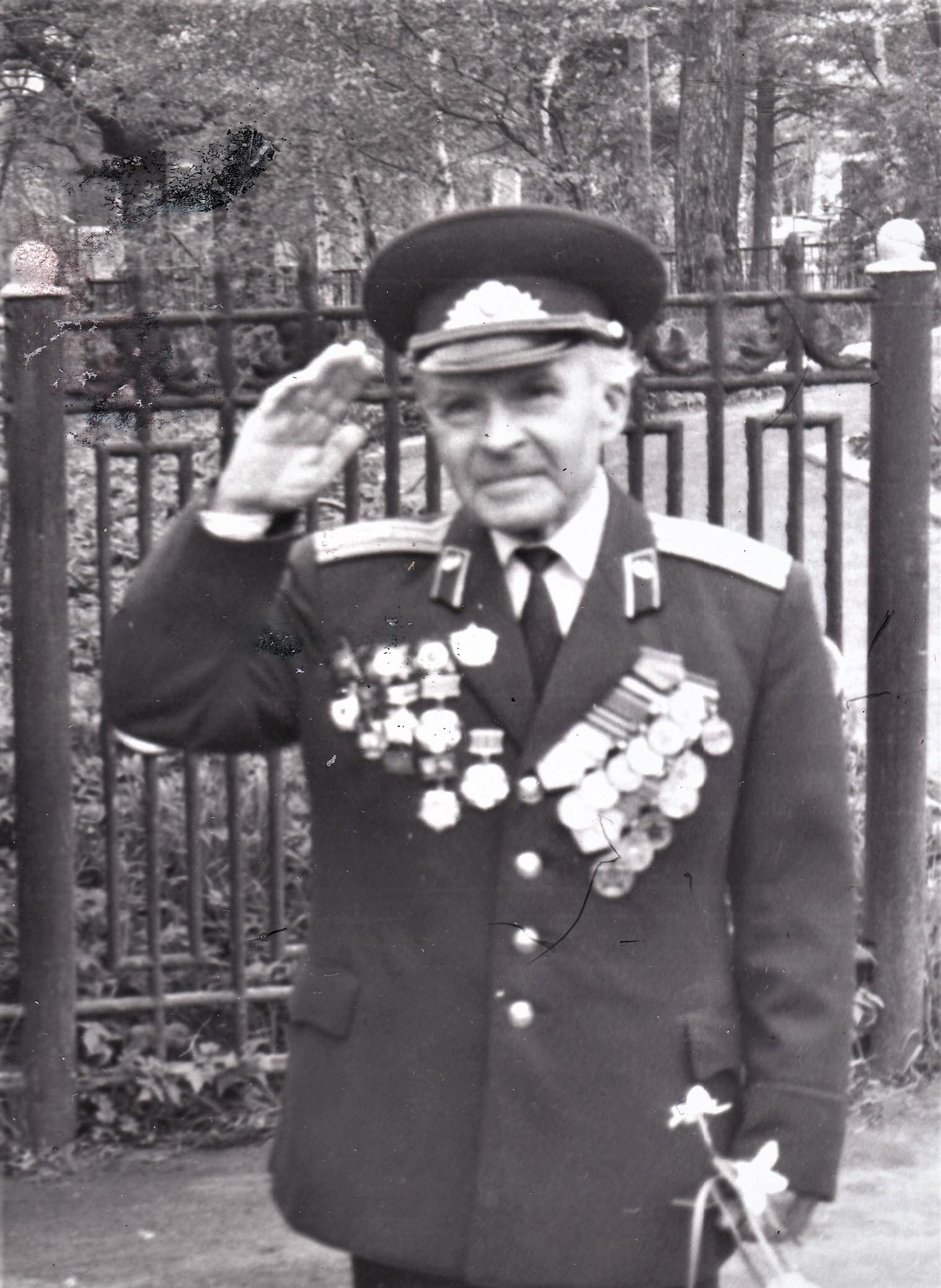 Мой отец, Дмитрий Михайлович, ветеран Великой Отечественной войны. Балахна. 90-е годы