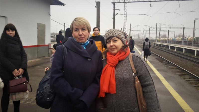 20. Татьяна со Светланой (маминой внучкой). Провожаем домой