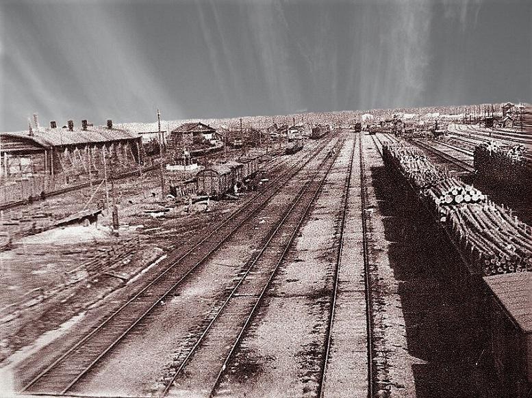 Железнодорожные пути поселка Сухобезводное