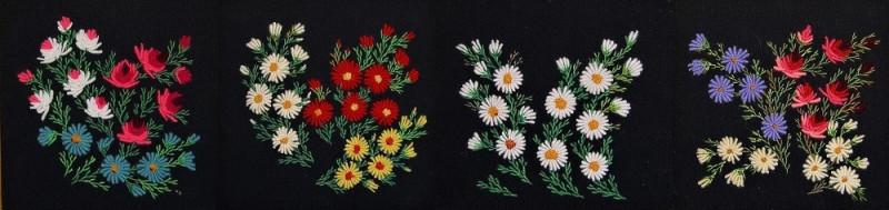Коллаж из нескольких маминых работ