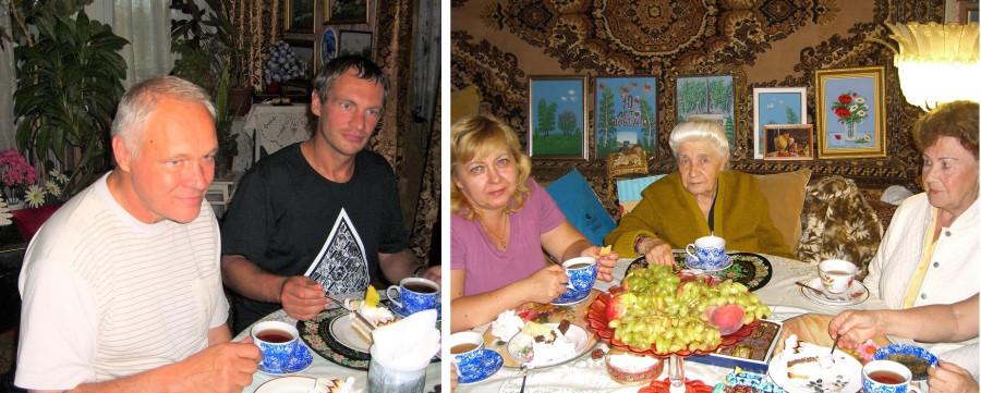 Гости приезжали поздравлять маму с 90-летием