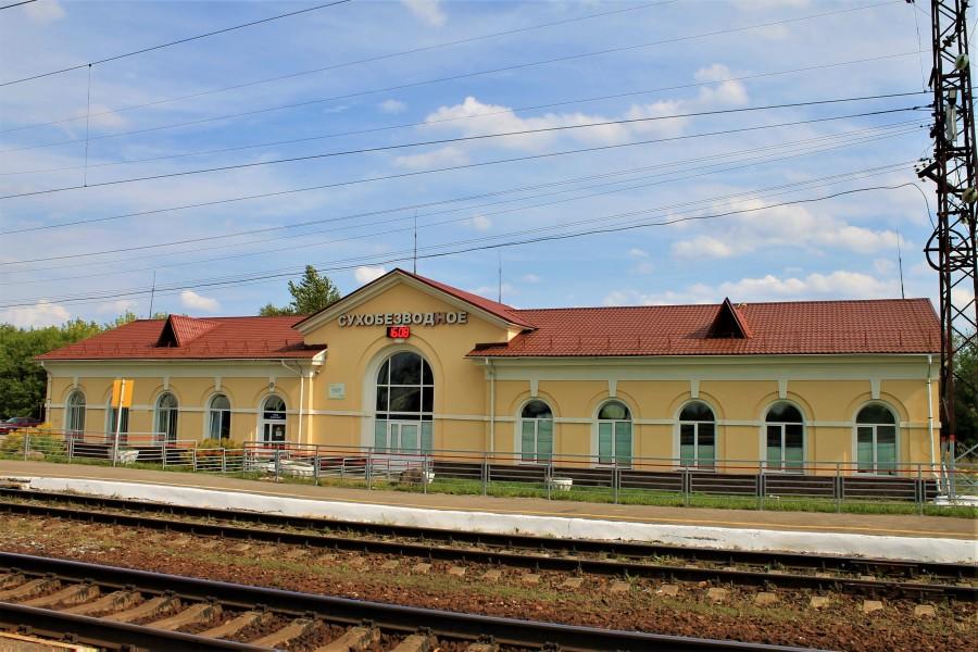 Железнодорожный вокзал Сухобезводное.