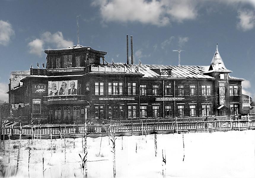 Старый Дом культуры Сухобезводного. Фото из интернета.