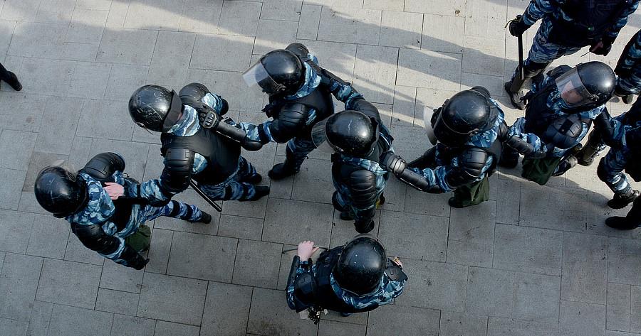 Работа ОМОНа на Пушкинской площади 26 марта