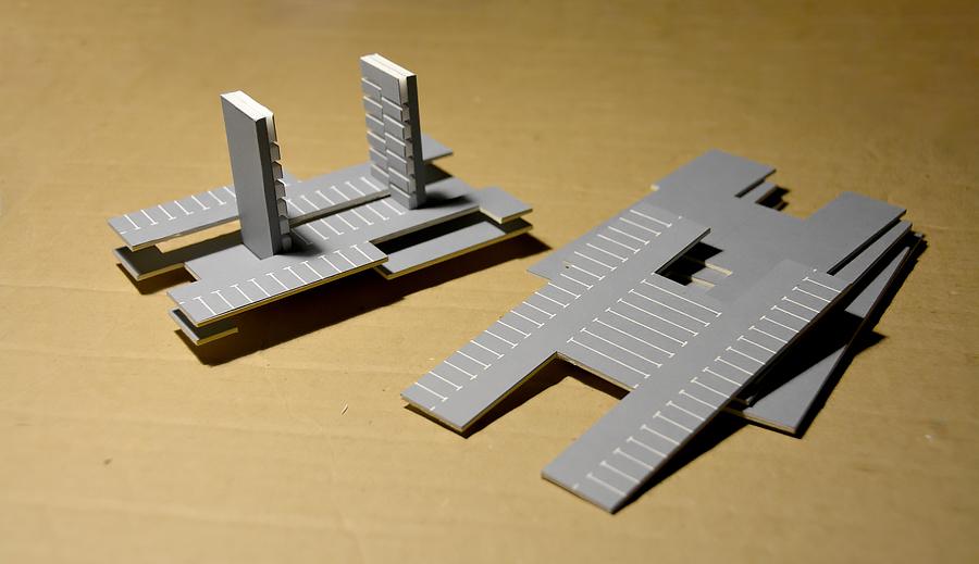 Второй макет макет, части, можно, часть, комплекса, чтобы, место, ярусы, пандус, здания, стало, макете, кубики, посредством, сооружения, этажа, крышку, этажи, чёрный, друга