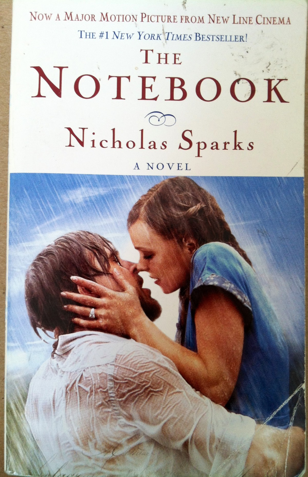 book report over the notebook