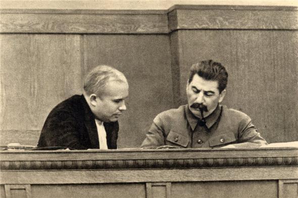 Хрущев и Сталин