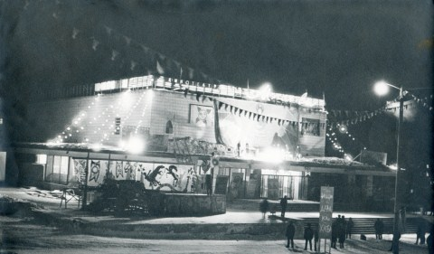 1967.Ночная репетиция спектакля Левша. (Фото из коллекции А. Б. Хуторецкого)