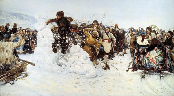 Суриков ВИ 1891 Взятие снежного городка