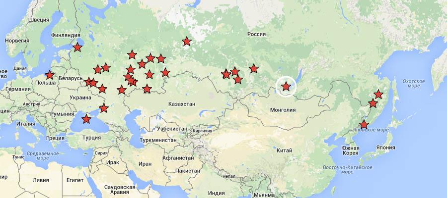 Карта - Пикеты РВС