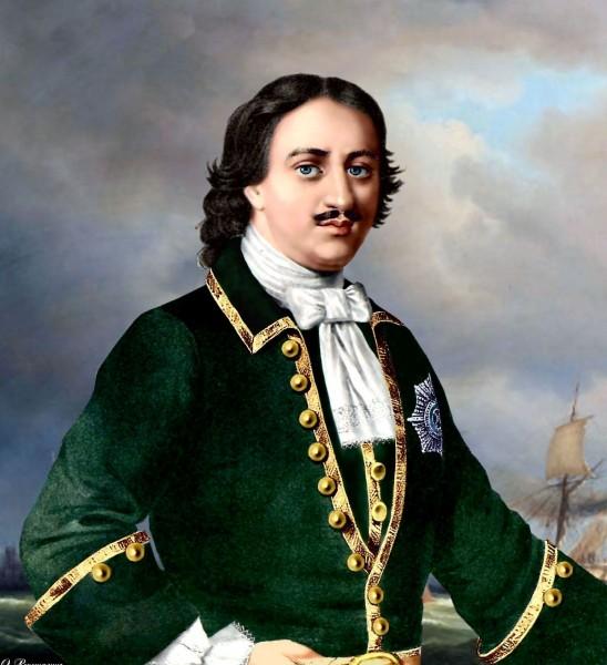 Пётр Великий в гвардейском мундире