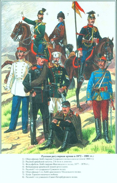 Конница и пехота 1877