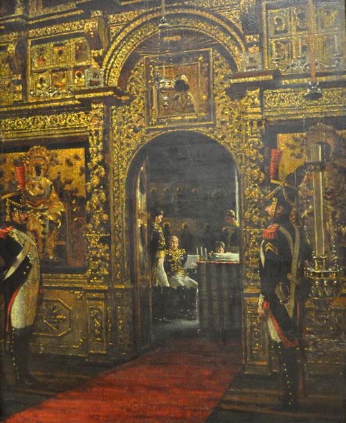 Верещагин Даву в Чудовом монастыре