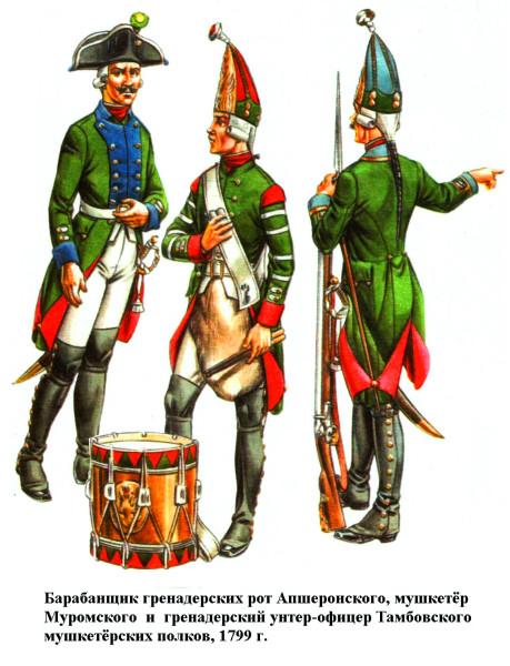 Мушкетёрские полки 1799