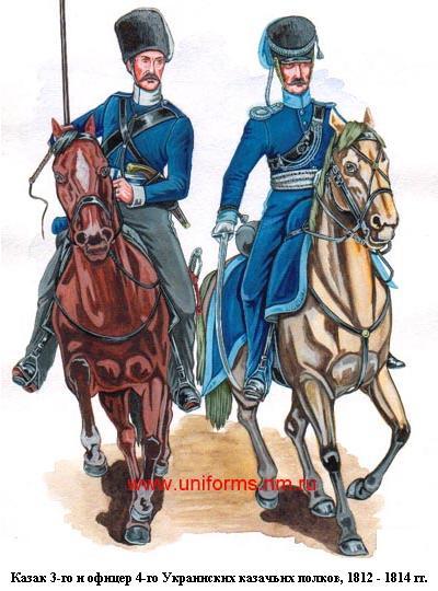 Украинские казаки 1812