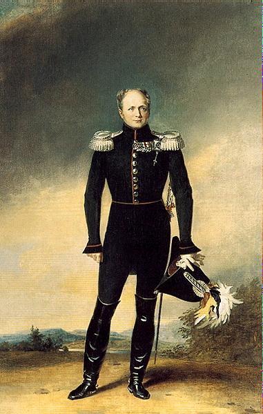 Александр I в кавалергардском мундире