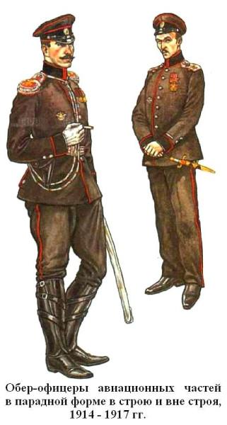 Авиационные офицеры в парадной форме 1914