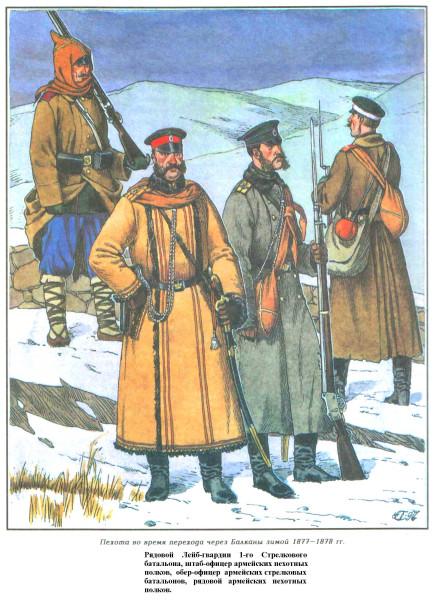 Пехота на Балканах 1877