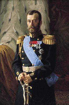 Николай Второй в морском мундире