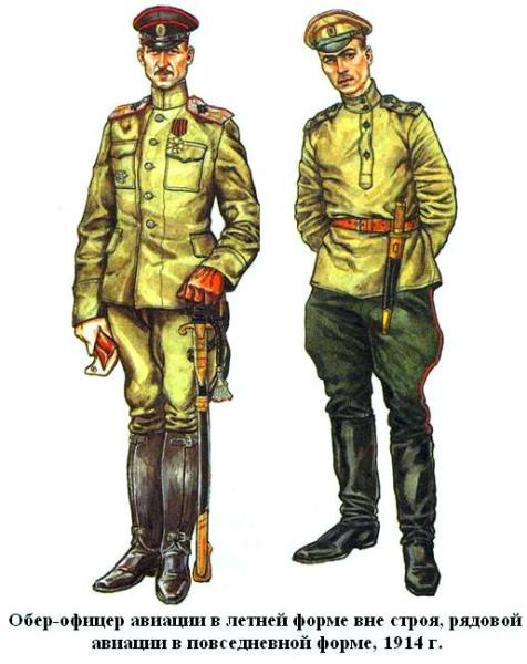 Авиаторы в защитной форме 1914