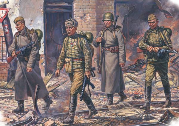 Пехота РККА в зимней форме