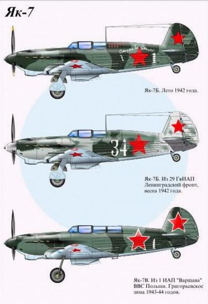 Модификации истребителя Як-7