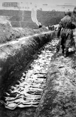 Братская могила узников концлагеря