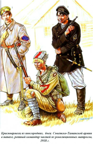 Таманец и другие красноармейцы 1918