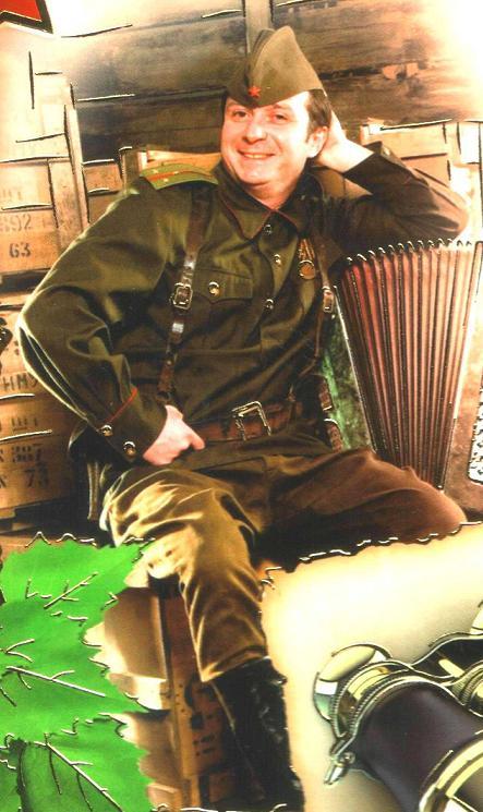 Старший лейтенант пехоты в гимнастёрке 1943