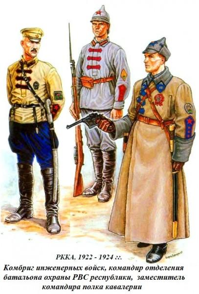 Инженерный комбриг кавалерист и охранник РВС 1922