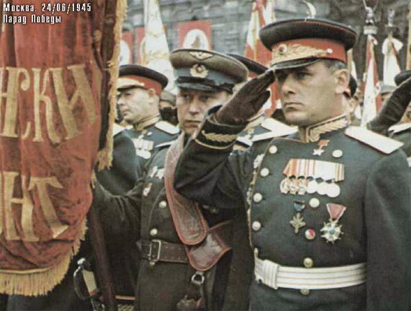 Покрышкин на Параде Победы