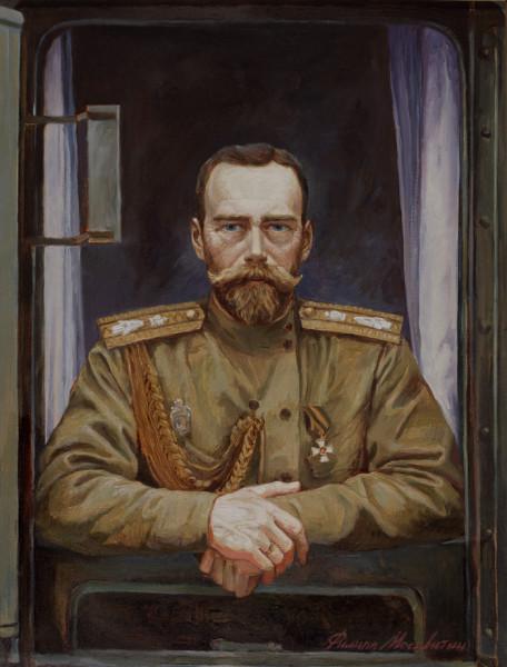 Николай Второй в окне царского поезда