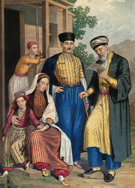 Крымские татары в народных костюмах