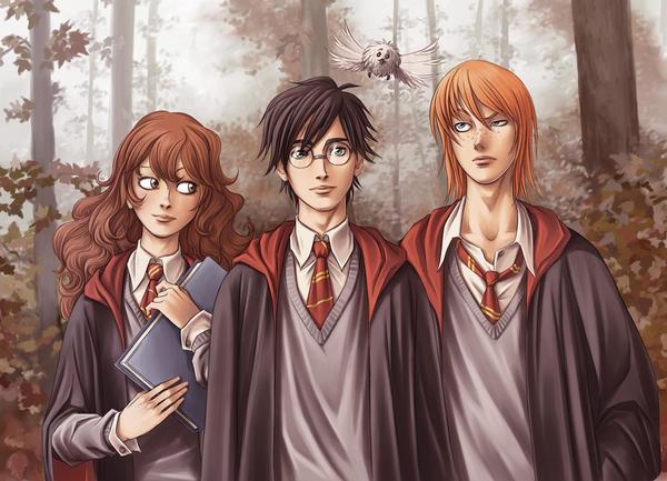 HP-Fan-Art---The-Trio-harry-potter-279346_600_433