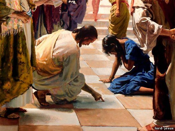 Христос прощает взятую в прелюбодеянии