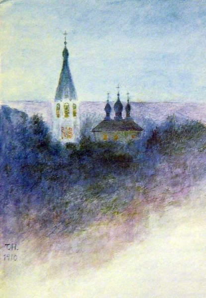 Рисунок Татьяны Николаевны с церковью